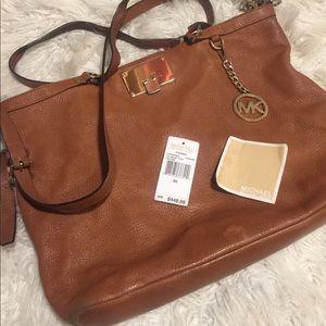 MK slouchy bag, saffiano leather